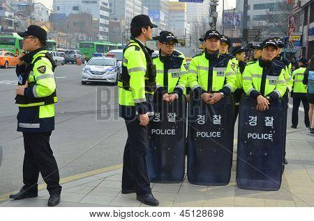 Seoul riot police