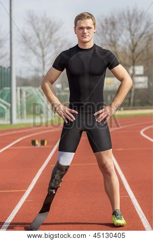 Handicapped Sprinter Standing Track