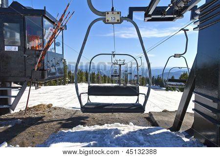 Mechanical Skii Lift Chairs Mt. Hood Oregon.