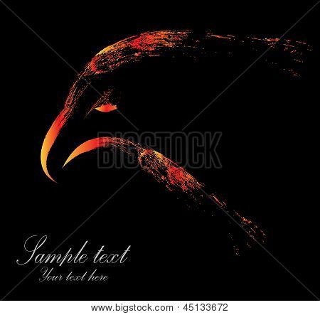 Vector image of eagle head