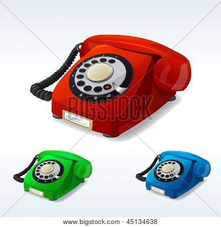 Vector old phones