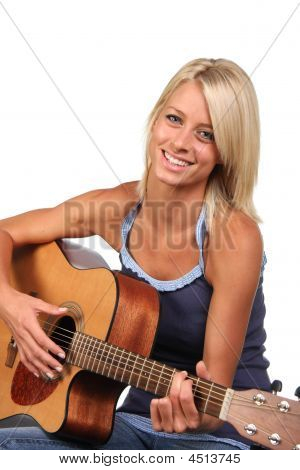 Beautiful Guitar Player