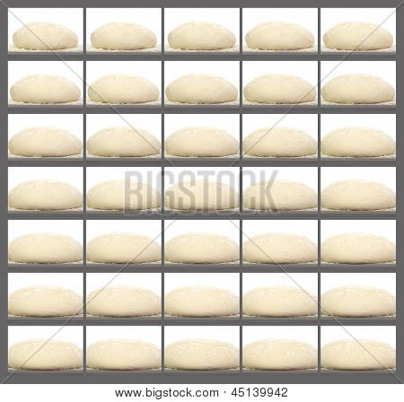 Collage Of A Rising Bread Dough