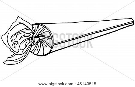 Vector Illustration of Rolled Marijuana Drug Joint Cigarette
