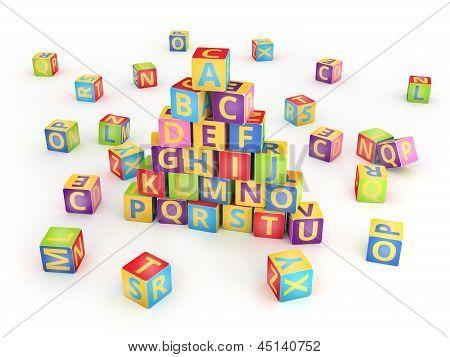 A,B,C cubes pyramide