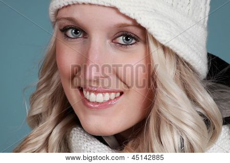 Closeup Potrait Of A Nice Girl