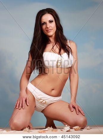cute woman in bikini