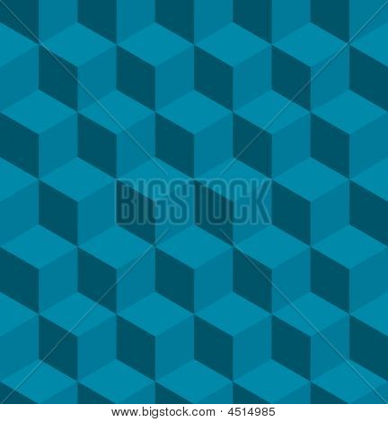 Seamless Tilable Isometric Cube Pattern
