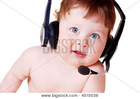 Baby In Headset