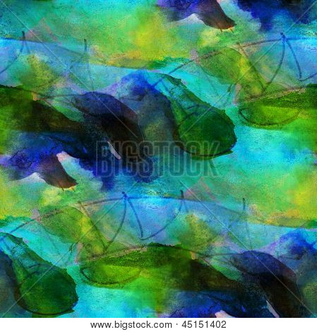 art seamless blue, green texture, background watercolor pink abs