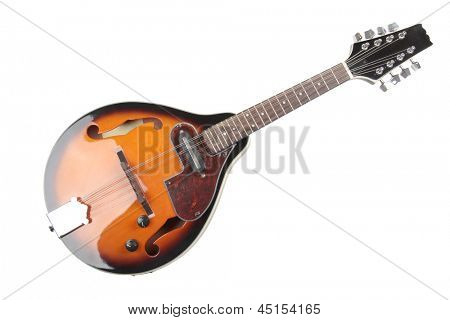 Color photo of a mandolin in country style