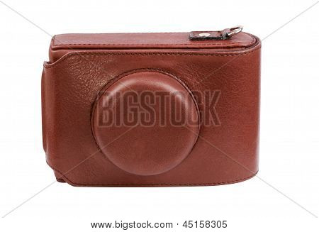 Leather Photo Cover Isolated
