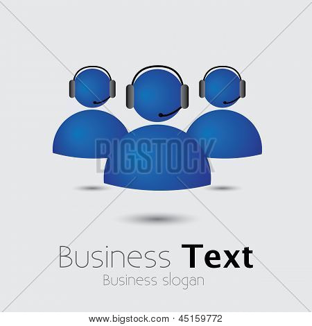Customer Support Or Helpdesk Team With Headphone- Vector Graphic