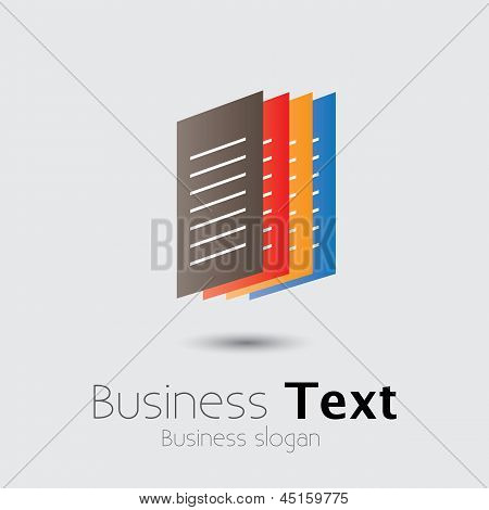 Colorful Office Documents Or Paper Files- Vector Graphic