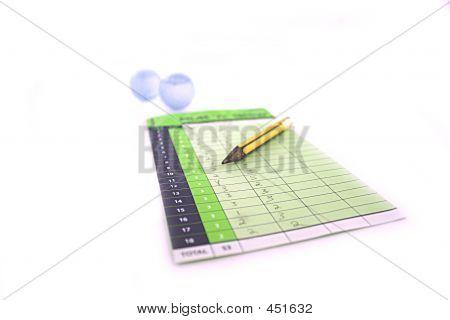 Scorecard With Balls