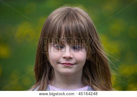 Cross-eyed Young Girl