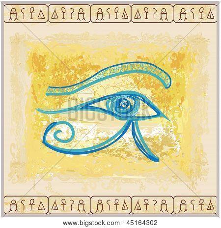 Eye Of Horus - Vintage Background