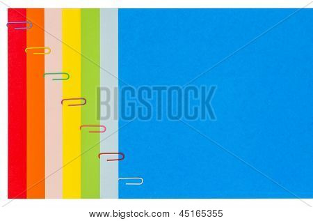 Rainbow Stationery With Paper-clips 01