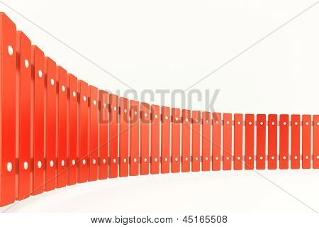 Curved Red Fence, Perspective View