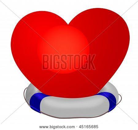 Heart In Life Preserver