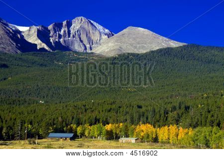 Longs Peak In Autumn