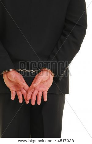 Handcuffed Business Man
