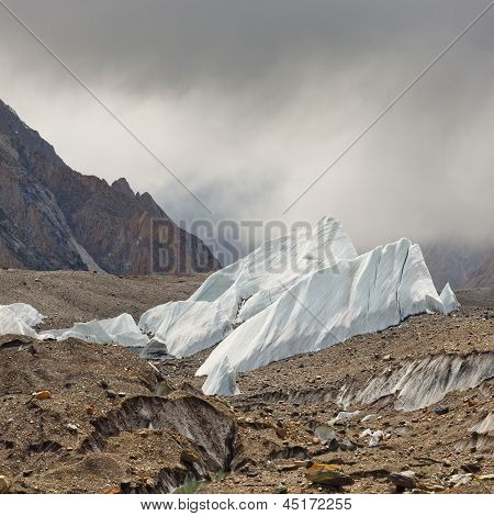 Ice Formations On The Baltoro Glacier