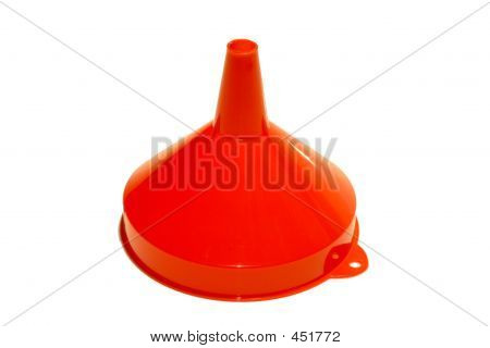 Red Plastic Funnel