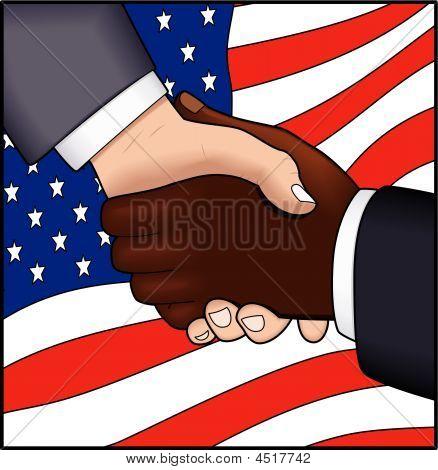Handshake Against The Flag