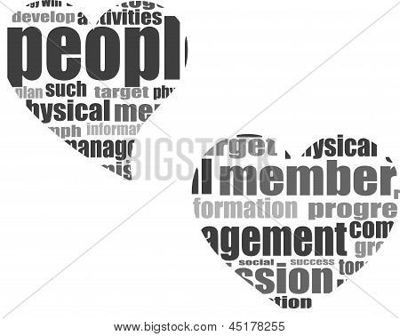 Business Word Collage. Illustration With Different Association Terms