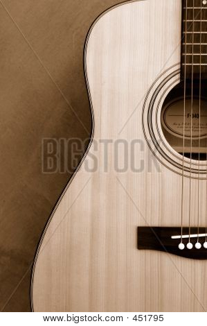 Guitar In Sepia