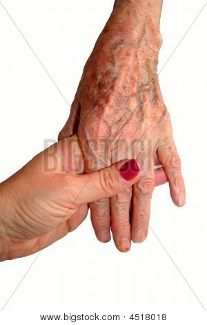 Young Hand Holding Old Hand