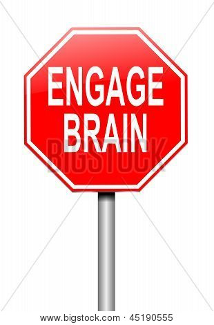 Engage Brain Concept.