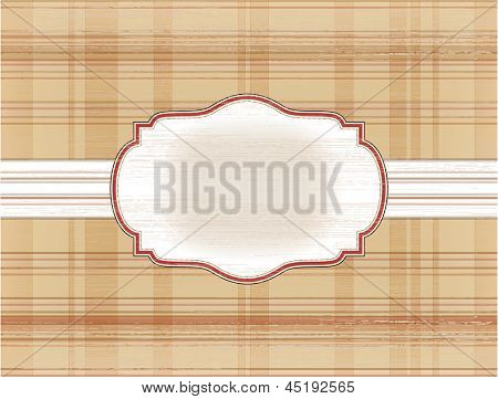 Template Frame On The Checkered Background