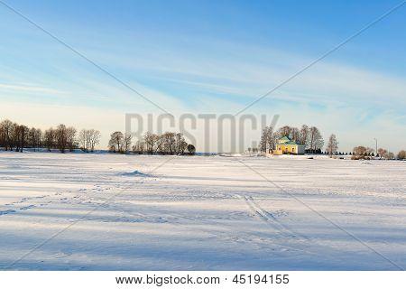 Peterhof Park In The Winter. Russia