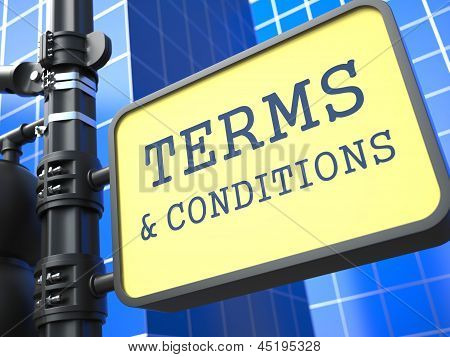 Business Concept. Terms and Conditions Waymark.