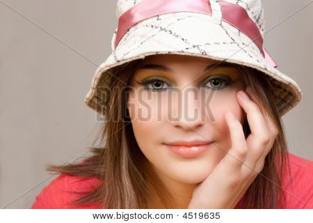 Attractive Woman Looking Straight On
