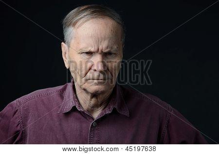upset man