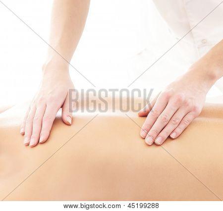 Massaging treatment isolated on white
