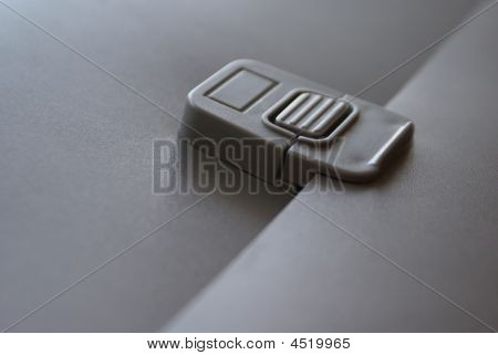 Dark-grey Folder With A Lock