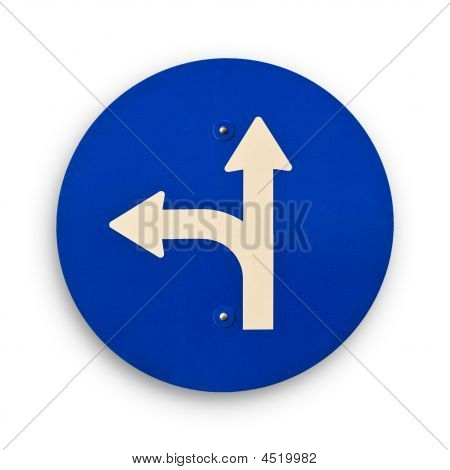 Arrow Blue Traffic Sign Clipping Path