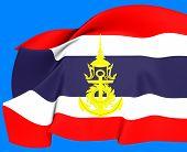 Постер, плакат: Таиланд военно морской Джек