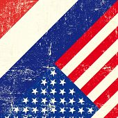 USA and netherlands grunge Flag. this flag represents the relationship  between netherlands and the