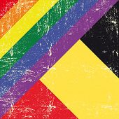 image of gay flag  - Belgian and gay grunge Flag - JPG