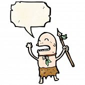 chanting tribesman cartoon