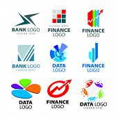 Vector collection of creative characters to banks and financial companies