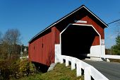 picture of rebuilt  - The Carlton Covered Bridge first erected in 1789 - JPG