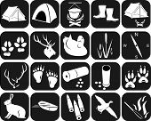 Icons for hunting. The isolated contours of objects for hunting