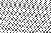 pic of chicken-wire  - isolated black mesh wire in white background - JPG