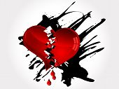 picture of teardrop  - Red broken heart and bloody red tears - JPG